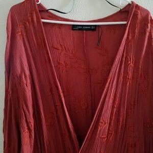 Zara Floral Duster Kimono